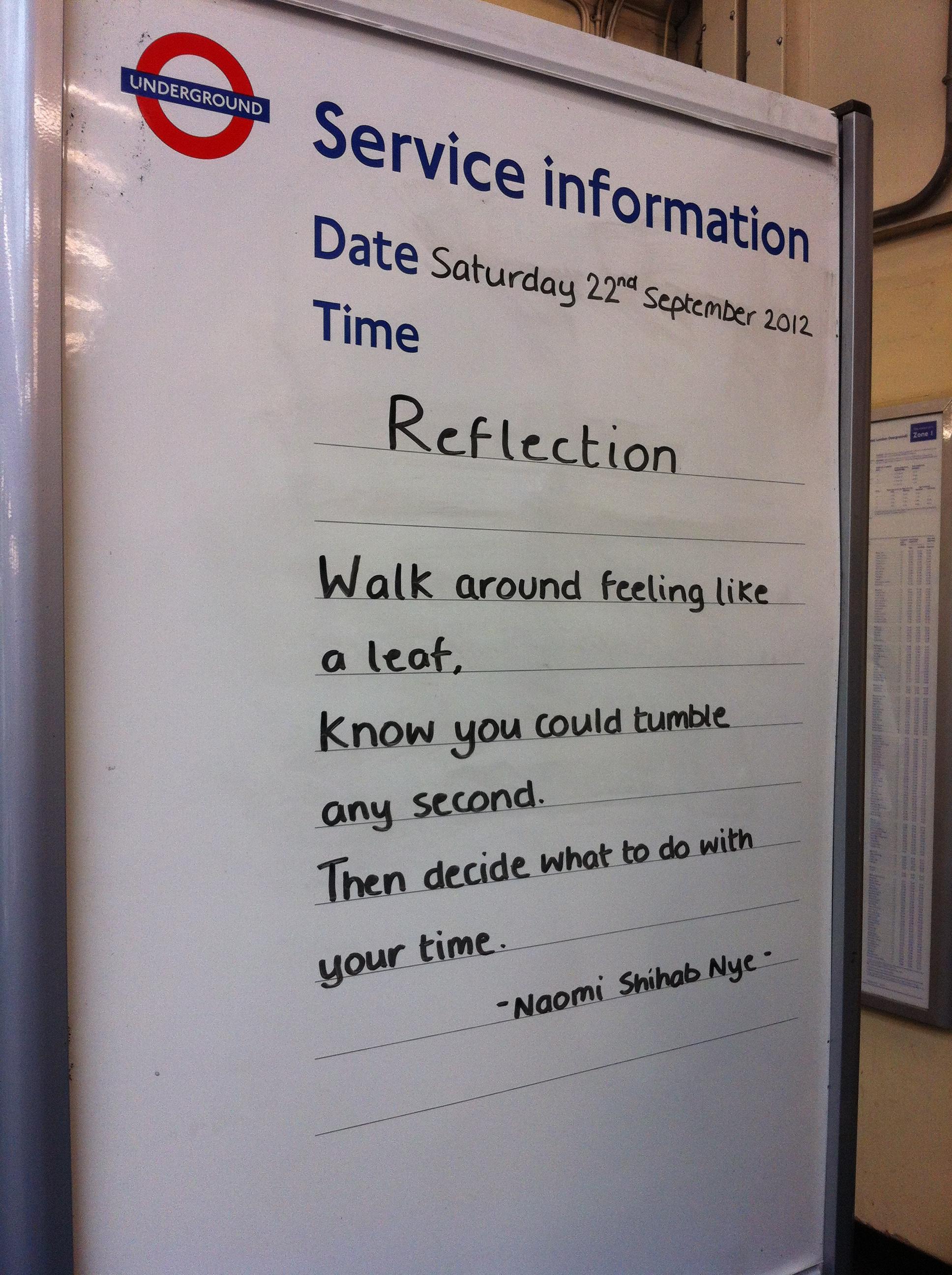 South Kensington Tube Sign