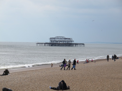 Brighton beach and old pier