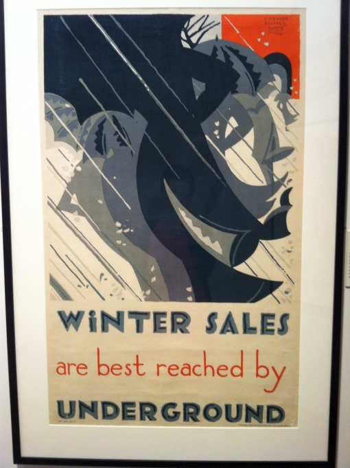 London sales tube poster