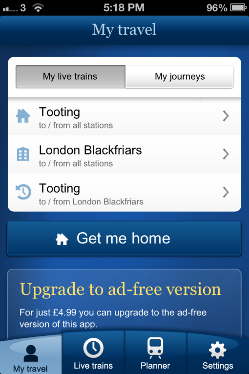 National Rail app