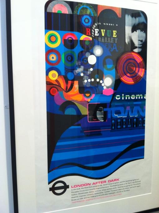 Retro underground poster