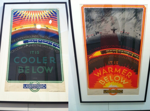 Tube poster - its warmer below